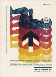 The intersection of science and design has many beautiful manifestations, from data visualization to nerd tattoos. But hardly does it get more delightful than in these gorgeous vintage science and technology ads from magazines in the 1950s and 1960s, bringing the modernist aesthetic to the atomic and space ages.