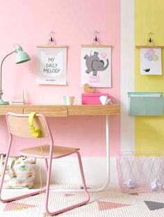 What would be your favorite color to decorate your desk space? The combination of pink and yellow is so pretty! It radiates with positivity.