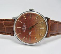 Very Rare Vintage Men's Watch Cornavin Orange Dial by TedDiscovery