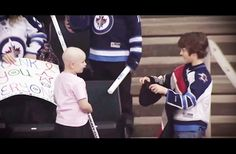 WATCH: This Boy Saw A Sick Girl At A Hockey Game. What He Did For Her Had Everyone Cheering