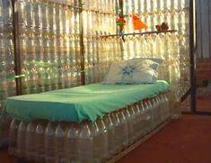 мебель из пластиковых бутылок своими руками: 2 тыс изображений найдено в Яндекс.Картинках Plastic Bottle House, Reuse Plastic Bottles, Plastic Bottle Crafts, Pet Bottle, Recycled Bottles, Plastic Recycling, Plastic Crates, Bottle Art, Recycled Glass