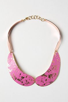 pink and gold collar necklace