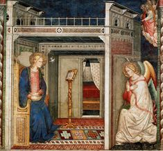 Sta. Maria Novella Annunciation, 1370s, Florence, unknown artist (Florence, active 1369-1396). Basilica of Santa Maria Novella, Florence
