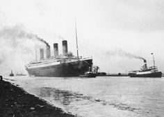 April 2, 1912: Titanic passing through Belfast Lough en route to the Irish Sea for her trials.