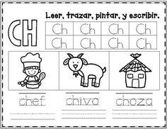 letra ch fichas del abecedario y el alfabeto para