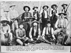 Company D Texas Rangers at Ysleta, Texas, 1894. (Photographic Print available from AllPosters.com).