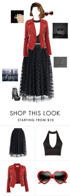 """Dorothy and Toto went over the rainbow to blow off Auntie Em"" by killjoyidiotyoungblood ❤ liked on Polyvore featuring Chicwish, ZeroUV and Jeffrey Campbell"