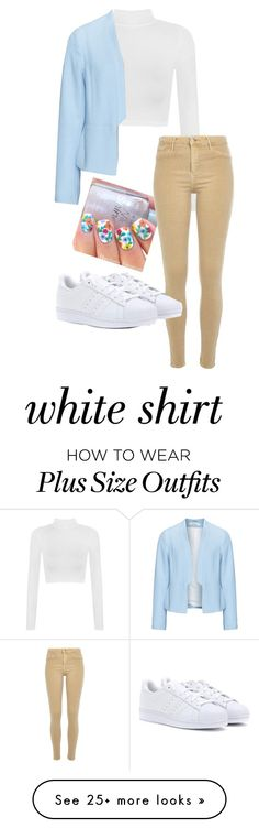 """""""The White Shirt"""" by lexidesautels on Polyvore featuring WearAll, River Island, Zizzi, adidas and WardrobeStaples"""