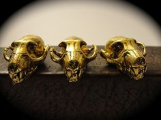 Bat Skull Cabinet Knob (18k Gold Plated) Made In Nyc