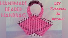 HOW TO MAKE HANDMADE BEADED HANDBAG/TO MAKE A BEADED BAG/HOW TO MAKE A ... Beaded Purses, Beaded Bags, Beading Tutorials, Hello Everyone, Hand Bags, The Creator, Beads, How To Make, Handmade