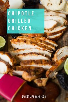 This grilled chicken marinated in a chipotle, Ketchup, piloncillo, honey and fresh lime juices creates a delicious base for your next weekend grilling feast. #chicken #grilledchicken #sweetlifebake #sweetlife #sweetliferecipes | sweetlifebake.com @sweetlifebake Easy Summer Meals, Summer Recipes, Marinated Chicken, Grilled Chicken, Barbecue Recipes, Grilling Recipes, Summer Barbecue, Bbq, Adobe Sauce