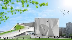Cycle, rock climb and roller blade on and in this activity centre by 10AM Architecture http://www.archello.com/en/project/collider-activity-center-0 #Architecture #Sport #Design #Climb