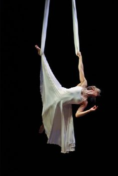 Aerial. How did she do a routine in a dress?