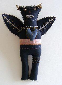 Jane Lee Horton/The7thMagpie - Forest spirit folk doll (doll art)