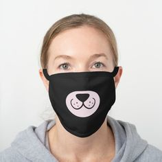 Shop Cute and Simple Grey Bear - Dog Face mask created by MinhaSanidade. Personalize it with photos & text or purchase as is! Funny Face Mask, Face Masks, Bear Face, Cute Bears, Yin Yang, Mask Design, Funny Faces, Black Cotton, Snug Fit