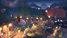 Yokai Party, by Chuck Groenink