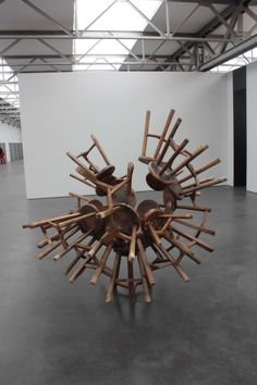 Ai Wei Wei: One way to stack the chairs!?!