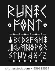 Find Runic Hand Drawn Font Vector Ink stock images in HD and millions of other royalty-free stock photos, illustrations and vectors in the Shutterstock collection. Hand Drawn Fonts, Hand Lettering Fonts, Cool Lettering, Calligraphy Words, Calligraphy Alphabet, Cool Fonts Alphabet, Letras Cool, Nordic Vikings, Bullet Journal Art