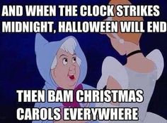 exactly. why must retailers foist Christmas upon us in such a hurry - no anticipation, just boom, Christmas is here