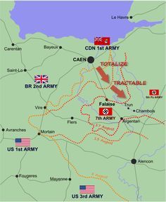 The closing of the Falaise gap was one of the most dramatic moments in the Second World War. Allied troops cut off a large part of the German army, Normandy Ww2, Military Tactics, The Great Migration, Canadian Army, Caen, Military Diorama, Le Havre, German Army, American Soldiers