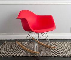 Silla Replica Eames Rocker - Rojo