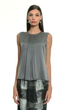 #guardaroba vincitore di #stylistforaday a Pomezia: #top in raso di seta con motivo di plissettatura. Euro 80 #diffusionetessile
