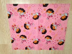 Dora the Explorer Pink Fabric Remnant Piece  18in.X15in. by MacraStar on Etsy