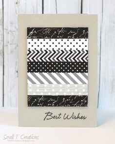 Small T Creations: Masculine Washi Tape Card. Washi tapes from www.washitapes.nl #washitape #maskingtape