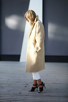 Beautiful Coat, I have one like this in Cashmere. Inspired by the trans-seasonal styling. laurenconrad.com