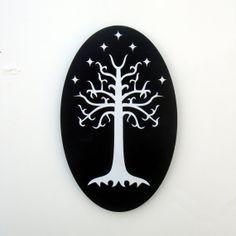 Tolkien inspired White Tree of Gondor wall art