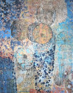blue ~ mixed media on canvas ~ by eva isaksen
