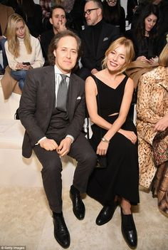 David Lauren and Sienna Miller (in Ralph Lauren) - Ralph Lauren show @ New York Fashion Week.  (February 2016)