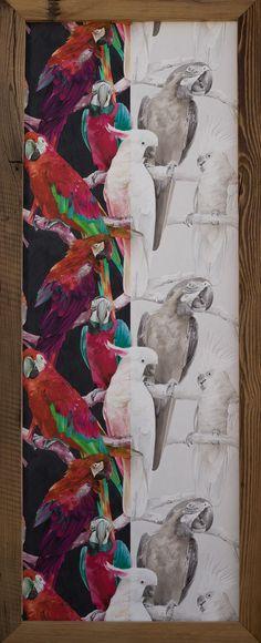 Bestell Nr. 002  Tapeten Bild Vlies Papagei Kakadu  Rasch  Bild Hoch format Gross. Grösse   1595 mm x 655 mm   CHF.420.00 Painting, Art, Cockatoo, Ideas, Art Background, Painting Art, Kunst, Paintings, Performing Arts