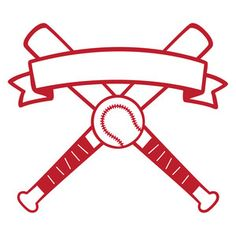 Silhouette Design Store: baseball banner logo