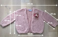 be wp-content uploads 2016 10 maattekening. Knitting For Kids, Easy Knitting, Brei Baby, Crochet Baby, Knit Crochet, Baby Pop, Baby Sweater Knitting Pattern, Knitting Videos, Mohair Sweater