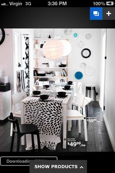 Black and white from ikea catalogue