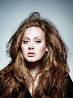 Gorgeous hair color and cut on Adele.