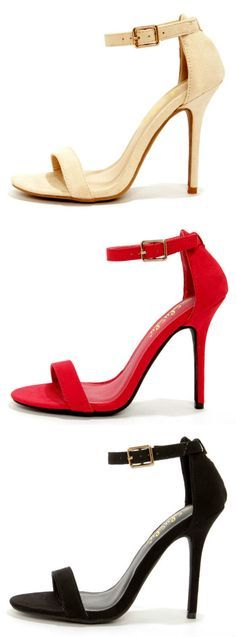 LuLu*s Exclusive Single Strap Heels I\'m in love with these shoes! One in every color pretty please...