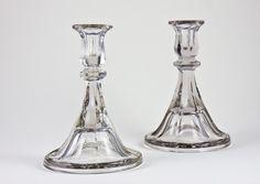 #lavishshoestring  Ornate glass candlesticks