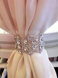 Image result for rhinestone curtain tie back