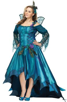 Peacock Fairy Plus Size Costume for Halloween - Pure Costumes