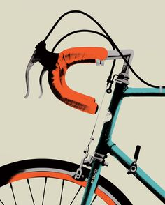 Sweet Serigraphy 2 - Bike Portrait 2 Art Print