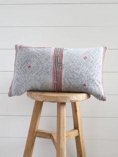 Love this pillow.  Nautical Hmong Lumbar Pillow | the Vintage Rug shop