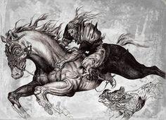 horse man by Gilgamesh Lornezhad