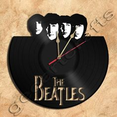 Wall Clock Beatles Vinyl Record Clock via GeoArtCrafts. Click on the image to see more!