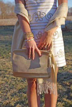 Lilly Pulitzer Lennox Shift Dress & Leather Zip Around Clutch styled by Brynn There Worn That