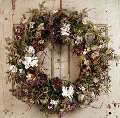 Summer Flower Wreath ~ For purchase info, CLICK thru and see description.