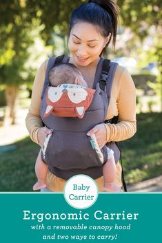 2dae626953e Multifunctional baby carrier with a fox-themed hood. Perfect mixture of  functionality and fashion. Infantino