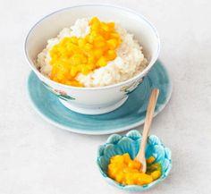 Milchreis mit Mango-Kompott. 30 Minuten.