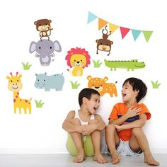 Jungle Animal Childrens Wall Stickers from notonthehighstreet.com